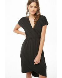 Forever 21 - Surplice High-low Dress - Lyst
