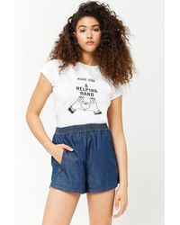 Forever 21 - Women's Chambray Zippered Shorts - Lyst