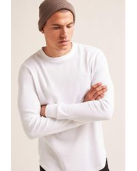 Forever 21 - Curved Hem Waffle Knit Tee - Lyst