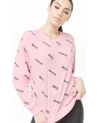 Forever 21 - Women's Paranoid Graphic Top - Lyst