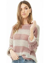 Forever 21 - Striped Open-knit Sweater - Lyst