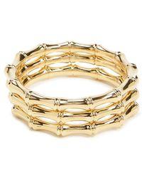 Forever 21 - Bamboo Bangle Bracelet Set - Lyst