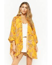 Forever 21 - Paisley Open-front Kimono - Lyst