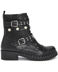 Forever 21 - Studded Faux Leather Combat Boots - Lyst