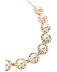 Forever 21 - Women's Faux Pearl & Rhinestone Statement Necklace - Lyst