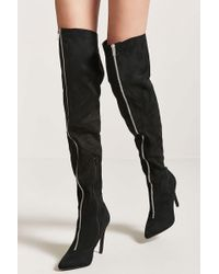 Forever 21 | Faux Suede Over-the-knee Boots | Lyst
