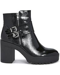 Forever 21 - Faux Patent Leather Ankle Booties - Lyst