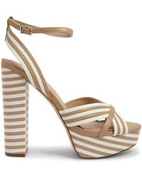 ab2e5fe5a77 Lyst - Forever 21 Rocket Dog Striped Wedges in Black