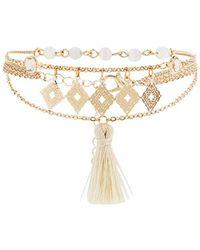 Forever 21 - Tassel Charm Chain Bracelet - Lyst