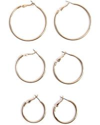 Forever 21 - Assorted Hoop & Stud Earring Set - Lyst