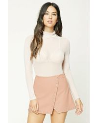 277b7ffe3f7 Forever 21 - Studded Faux Leather Mini Skirt - Lyst