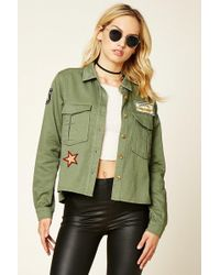 Forever 21 - Women's Contemporary Army Patch Jacket - Lyst