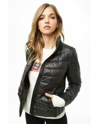 Forever 21 - Sheeny Puffer Jacket - Lyst