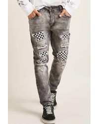 Forever 21 - Victorious Checkered Patch Jeans - Lyst