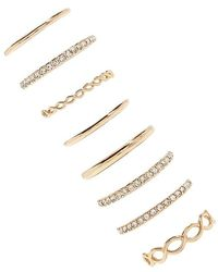 Forever 21 - High-polish Stackable Ring Set - Lyst