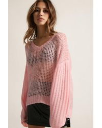 Forever 21 - Pixie & Diamond Open-knit Sweater - Lyst
