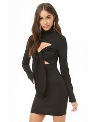 Forever 21 - Cutout Mock Neck Mini Dress - Lyst