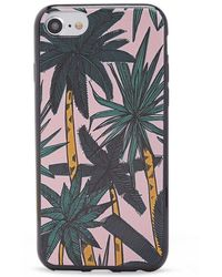 Forever 21 Palm Tree Print Phone Case For Iphone 6/7/8 , Pink/multi - Multicolour