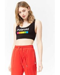 Forever 21 - Polaroid Graphic Crop Top - Lyst