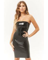 Forever 21 - Kikiriki Faux Patent Leather Tube Dress - Lyst