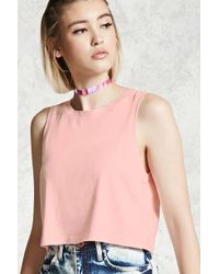 Forever 21 - Mineral Wash Crop Top - Lyst