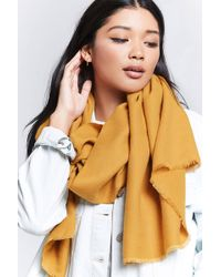 Forever 21 - Frayed Oblong Scarf - Lyst
