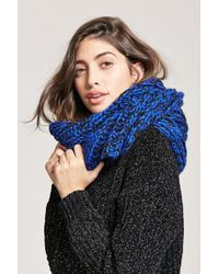 Forever 21 - Marled Chunky Knit Scarf - Lyst