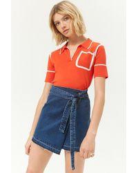 Forever 21 - Momokrom Denim Wrap Mini Skirt - Lyst