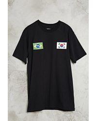 Forever 21 - T-Shirt mit Koreanischer und Brasilianischer Fahne - Lyst