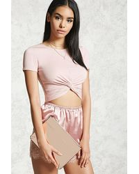 Forever 21 | Reflective Faux Leather Clutch | Lyst