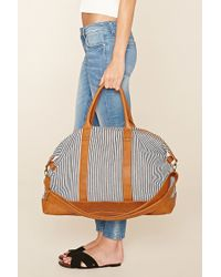 Forever 21 | Striped Canvas Travel Bag | Lyst