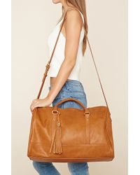 Forever 21 | Faux Leather Travel Bag | Lyst