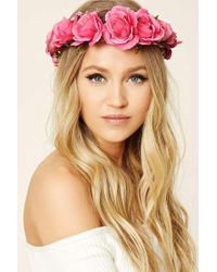 Forever 21 - Rose Flower Crown Headwrap - Lyst