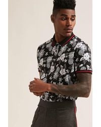 Forever 21 - Tropical Print Polo Shirt - Lyst