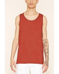 Forever 21 - Mineral Wash Cotton Tank - Lyst