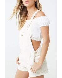 Forever 21 - Cuffed Overall Shorts - Lyst