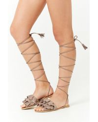 Forever 21 - Qupid Faux Suede Sandals - Lyst