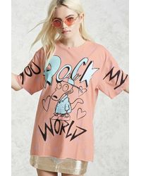 Forever 21 - You Rock My World Graphic Tee - Lyst