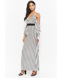 7720d9d7542f Forever 21 Chiffon M-slit Maxi Dress in Black - Lyst