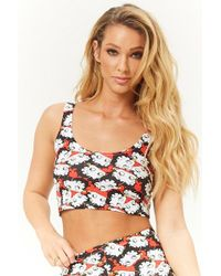 Forever 21 - Betty Boop Graphic Crop Top - Lyst
