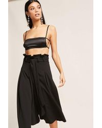Forever 21 - Paperbag-waist Culottes - Lyst