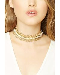 Forever 21 | Faux Pearl Loop Chain Choker | Lyst