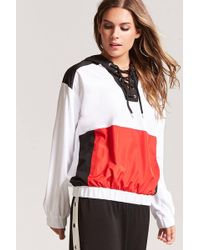 Forever 21 - Colorblock Flag Graphic Anorak - Lyst