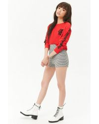 FOREVER21 - High-waist Houndstooth Shorts - Lyst