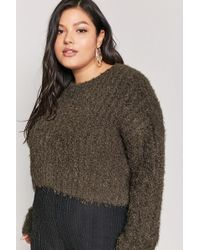 Forever 21 - Women's Plus Size Fuzzy Boucle Knit Jumper Sweater - Lyst