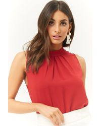 Forever 21 - Pleated Chiffon Top - Lyst