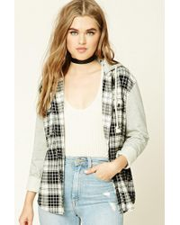 Forever 21 - Check Flannel Hoodie - Lyst