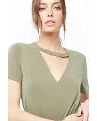 Forever 21 - Women's V-cutout T-shirt Dress - Lyst