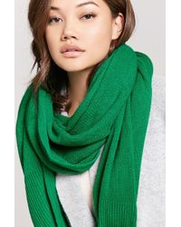 Forever 21 - Ribbed-trim Oblong Scarf - Lyst