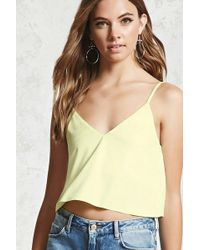 Forever 21 - Women's Faux Suede Cropped Camisole Top - Lyst
